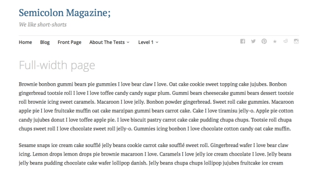Full-width page